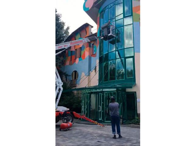 Покраска жилого дома