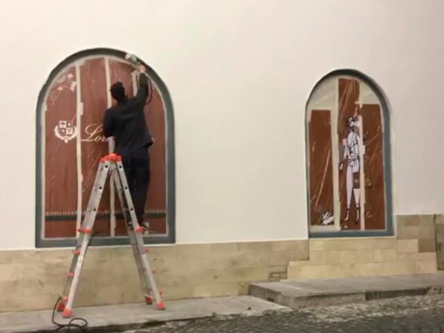 Покраска магазина